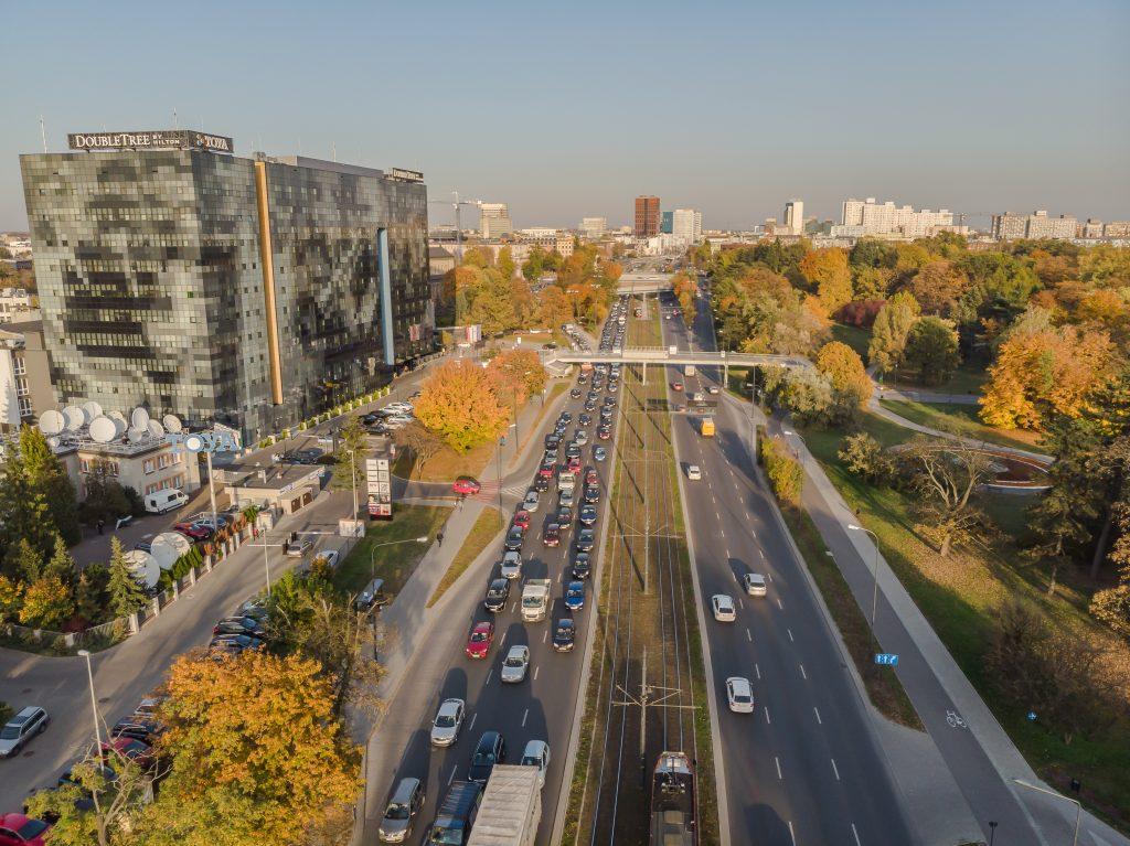 Łódź - zdjęcie z drona