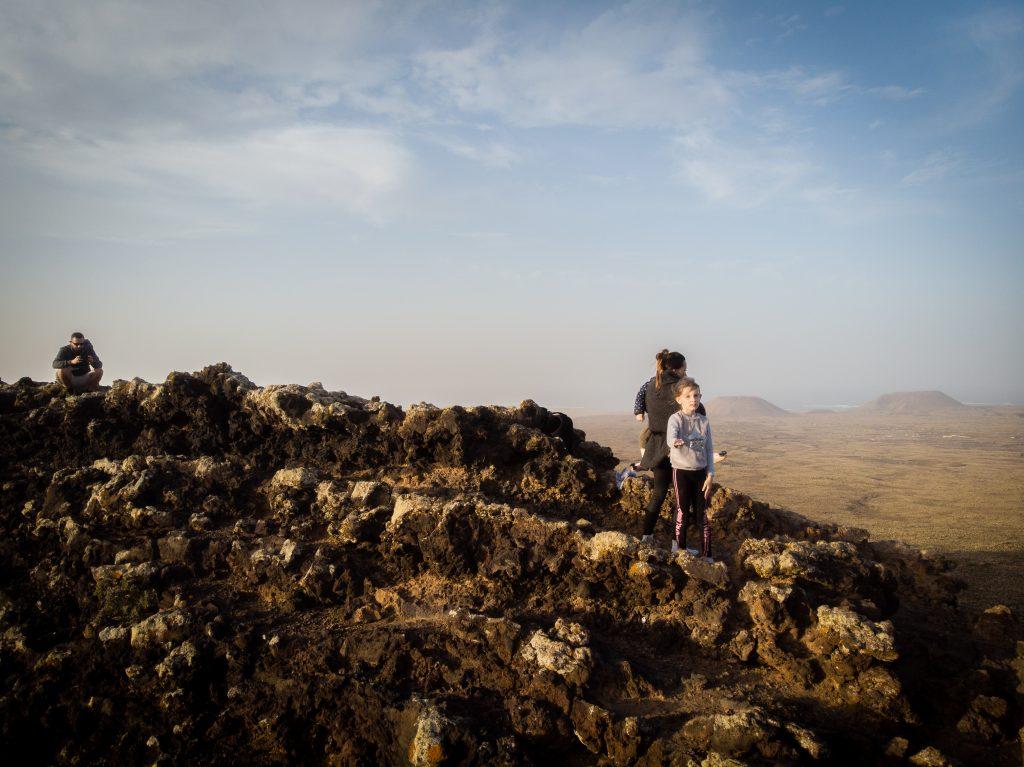Na szczycie wulkanu Hondo - Calderon Hondo, Fuerteventura