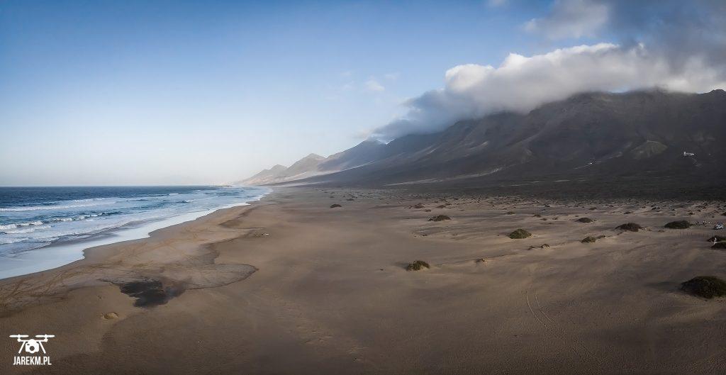 Plaża Cofete w pełnej okazałości.