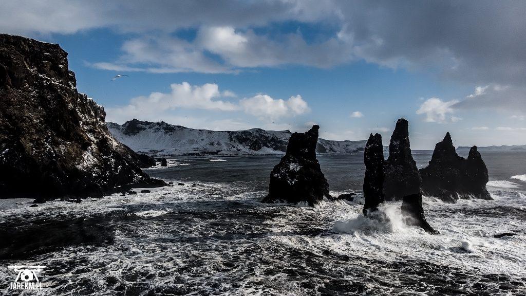 Plaża Reynisfjara - Skały Reynisdrangar