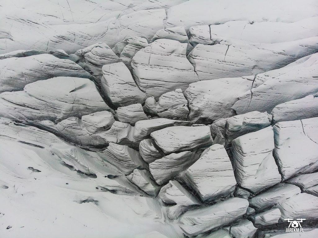 Lodowiec Vatnajökull z drona