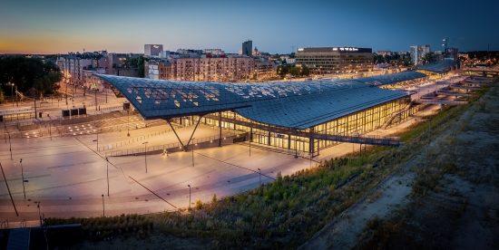 Dworzec Łódź Fabryczna z drona