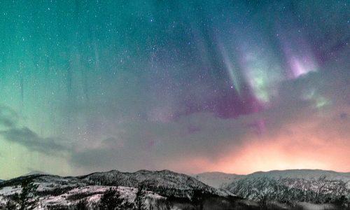 Zorza polarna na Lofotach - Norwegia