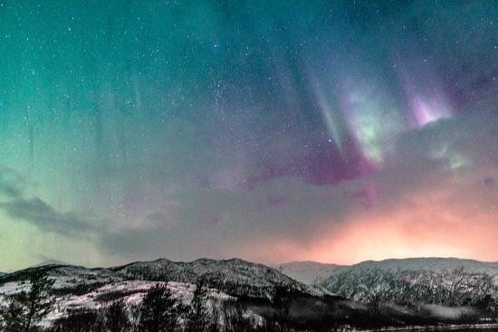 Zorza polarna na Lofotach – cudowna Północna Norwegia zimą