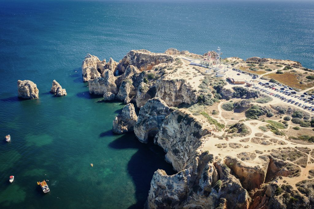 Algarve z drona.