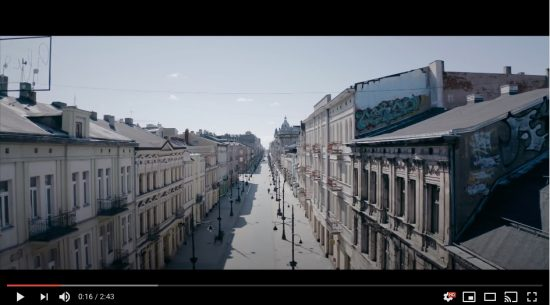 Łódź podczas epidemii koronawirusa – film z drona
